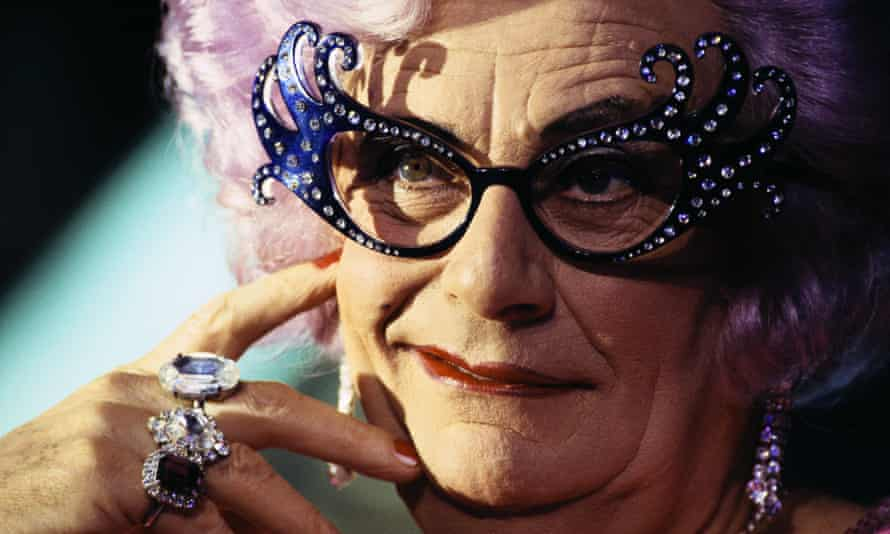 As Dame Edna Everage.