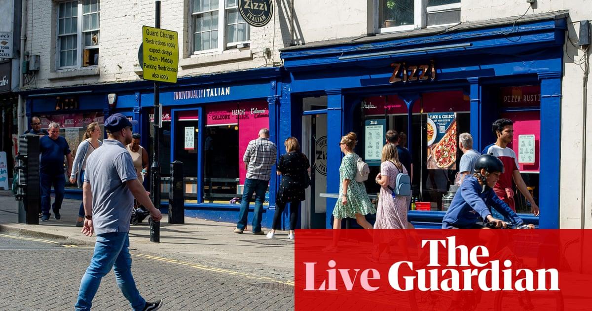 UK economic growth picks up after July drop; GDP remains below pre-pandemic level – business live