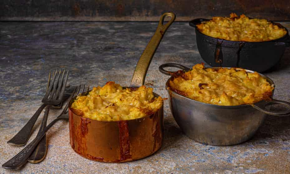 Shepherd's pie by Jane Grigson. Food and prop styling by Polly Webb-Wilson.