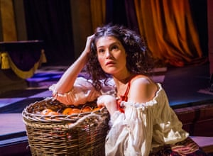 Gemma Arterton (Nell Gwynn) in Nell Gwynn by Jessica Swale at the Apollo Theatre, London. Directed by Christopher Luscombe