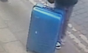 Greater Manchester police are still searching for this blue case, seen carried by Salman Abedi days before he carried out the Manchester Arena attack.