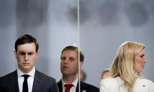Jared Kushner and Ivanka Trump, pictured with Eric Trump, are central figures in Wolff's book.