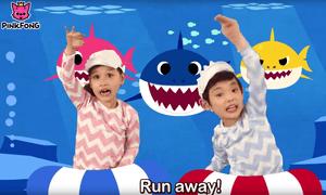 Children singing the Baby Shark song on YouTube.