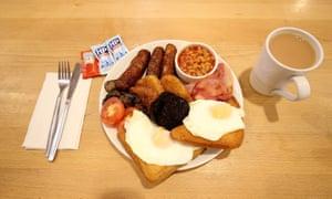 A bacon breakfast