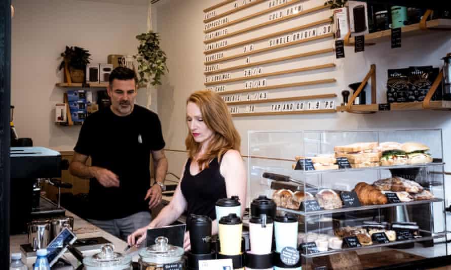 Owner-operators of Black Velvet Espresso in Melbourne's CBD, Jackie and Darren Silverman.