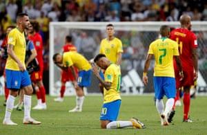 Neymar and teammates are eliminated.