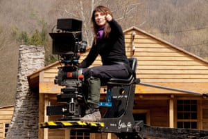 Susanne Bier on the set of Serena, which starred Jennifer Lawrence and Bradley Cooper.