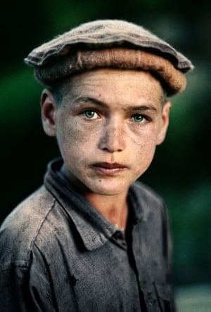 Nuristan province, 1992: A young village boy