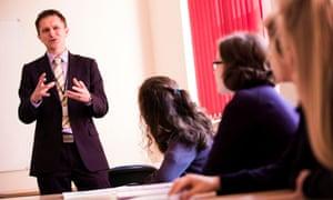 A sex education class at a girls' school