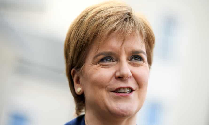 The Scottish first minister. Nicola Sturgeon.