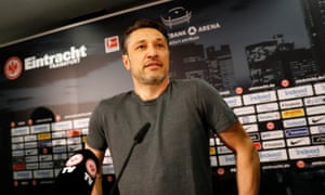 Eintracht Frankfurt coach Niko Kovac during a press conference confirming his appointment at Bayern Munich coach for next season.