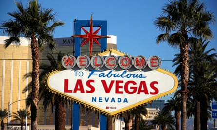 A view of the welcome sign on the Las Vegas Strip.