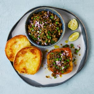 Meera Sodha's smoked tofu, mushroom and almond kheema.