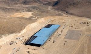 The Tesla Gigafactory in the Nevada desert