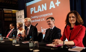 David Davis and Jacob Rees-Mogg at the launch of the Institute for Economic Affairs' A+ policy.