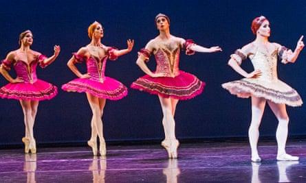 Chase Johnsey in Paquita by Les Ballets Trockadero de Monte Carlo