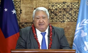 Tuilaepa Sailele Malielegaoi, Samoa's prime minister told the nation to stay calm after its first Covid case.