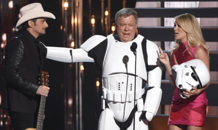 William Shatner performing at the Country Music Association awards