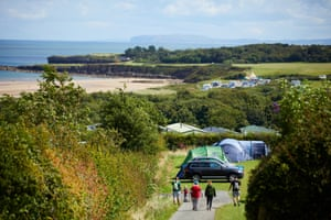 The award winning Tyddyn Isaf camping and caravan park overlooking Lligwy Bay on the Isle of Anglesey