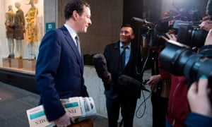 George Osborne arrives at work on his first day as editor of the Evening Standard