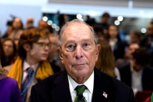 Michael Bloomberg attends an event at the COP25 Climate Conference in Madrid, Spain.