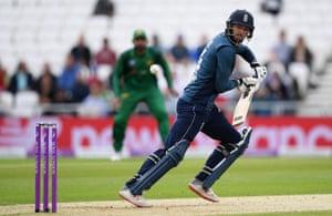 James Vince of England bats against Pakistan.
