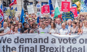 An anti-Brexit march in London on 23 June, the anniversary of the referendum.