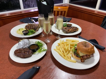Burgers and steaks at the last Sizzler in Sydney