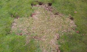 Evidence of nighthawking at Old Sarum