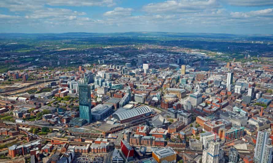 Aerial view of Manchester.