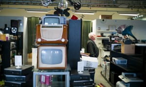 'Despite the craftsmanship and years of reliable service, things don't sell. They don't fit modern lives': inspecting goods about to be sold at auction.