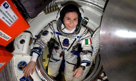 Suiting up … Cristoforetti prepares for her return to Earth.