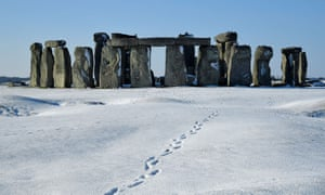 Stonehenge in the snow, February 2019.