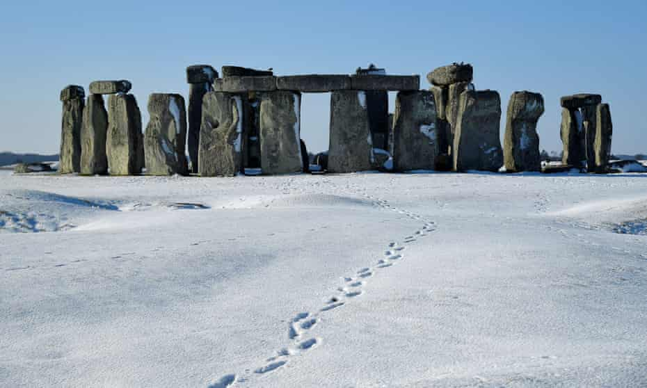 Stonehenge in the snow, February 2019.