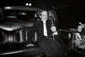 Arthur Grace captures Williams in the back of a limo after leaving an Oscars party in 1998. The actor won the statuette – his sole Oscar – as best supporting actor for his role in Good Will Hunting
