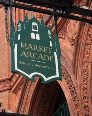 The Market Arcade, George's Street, Dublin, IrelandE8PJC9 The Market Arcade, George's Street, Dublin, Ireland
