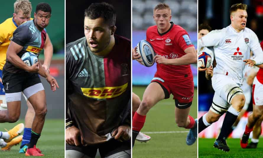 Nathan Earle, Simon Kerrod, Ali Crossdale and Jack Clement are among the uncapped players in the England training squad.