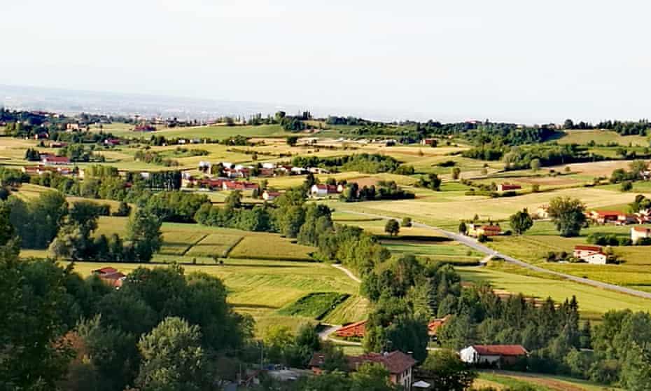 The countryside around Montaldo Torinese