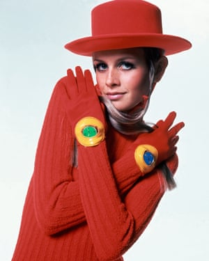 Twiggy pictured in Vogue in 1967.
