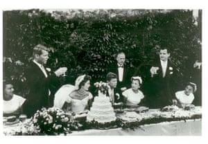 John F. Kennedy and Jacqueline Bouvier Wedding, Newport, RI, 1953