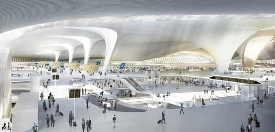 Zaha Hadid Architects' parametric design for the new Beijing Airport terminal 'will guide you and tell you where you are'.