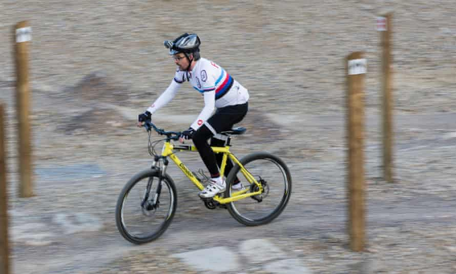 Possibly the last time I mountain biked: trying out the circuit at the former Olympic park in London in 2014.