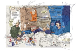 Calais (Ammar is in the green jacket, on the left), 2016, by Olivier Kugler