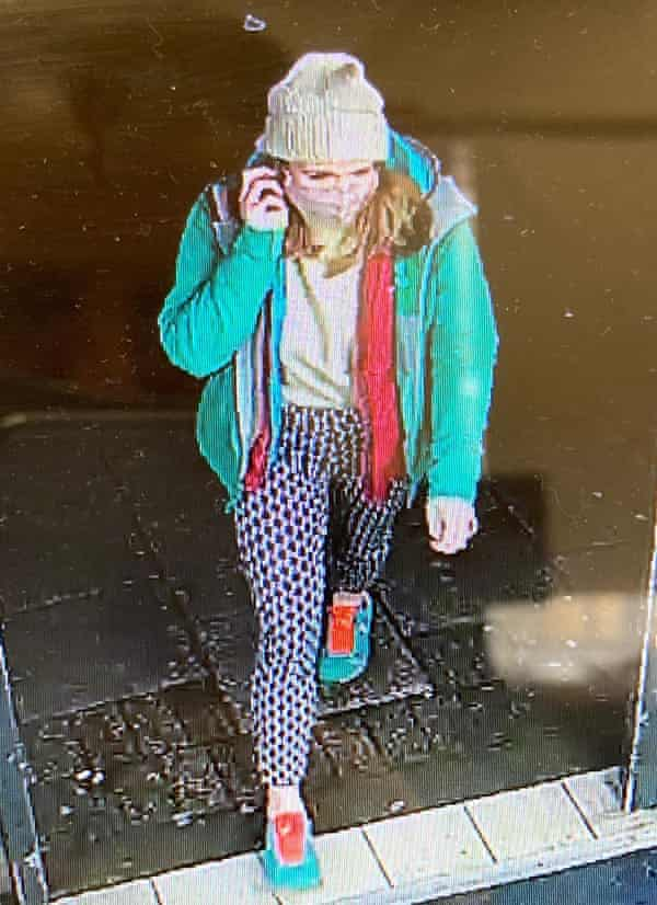 A CCTV image issued by the Metropolitan police of missing woman Sarah Everard.