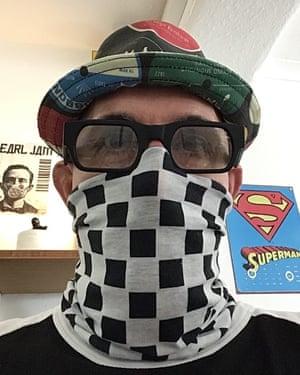 Crispin Willis wearing his face mask