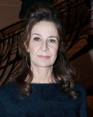 Valerie Lemercier at Paris fashion week, 22 January 2019.