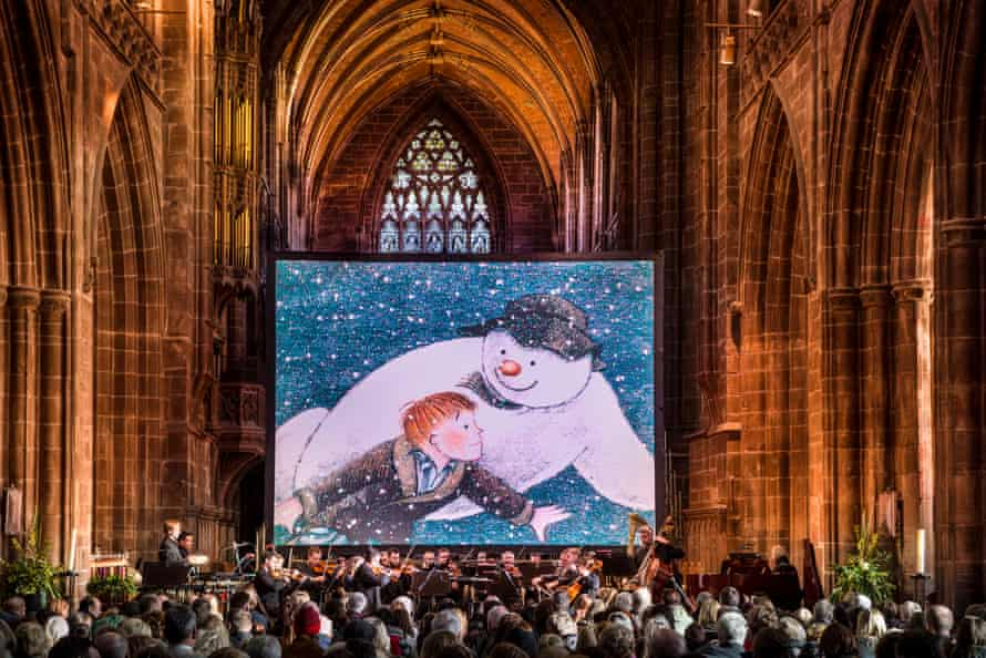 The Snowman screening at Chester cathedral