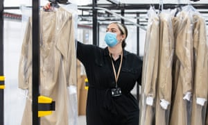PPE equipment being produced at Burberry's trenchcoat factory