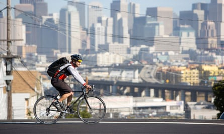 A cyclist in San Francisco. 'Bike share is cities trying to figure out how to accommodate more people ... sustainably and affordably,' says a spokeswoman for the program.
