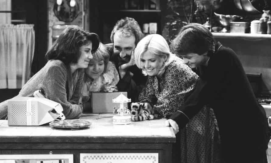 The cast of Family Ties